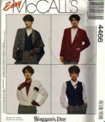 McCall's 4466 Misses Jacket, Vest Sewing Pattern - Size C