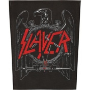 XLG Slayer Black Eagle In The Abyss Metal Music Band Woven Back Jacket Applique Patch