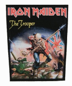 XLG Iron Maiden The Trooper Heavy Metal Music Band Woven Applique Patch