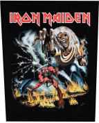 XLG Iron Maiden Number Of The Beast Metal Music Band Woven Applique Patch