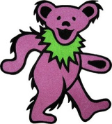 Grateful Dead - Dancing Bear - Purple 20cm - Iron on or Sew on Embroidered Patch