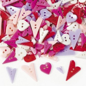 1/4 Lb. Of Heart-shaped Buttons
