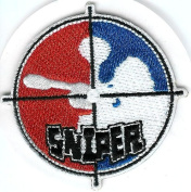 Paintball USA Logo Red White and Blue (5 PACK) SNIPER Self Adhesive Sticker Patch