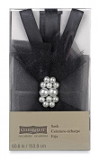 Celebrate It Occasions Wedding Pearl Tulle Sash Black