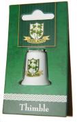 Irish Shamrock and Shield Collectors Thimble