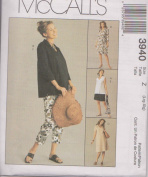 McCall's 3940 - Maternity Dress, Top, Pants and Shorts - Size Z