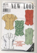 New Look Womens Sleeveless and Short Sleeved Blouse Sewing Pattern 6636