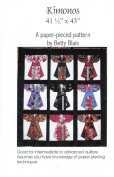 Kimonos Quilt Pattern, Embellishment Village, Paper Pieced 110cm by 110cm Fat Quarter Friendly