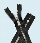 90cm Zipper ~ YKK#5 Excella Nickel Zipper Closed Bottom ~ 580 Black
