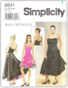 Simplicity 8841 Pattern Misses'/Miss Petite Fit & Flare Dress with Princess Seams and Spaghetti straps
