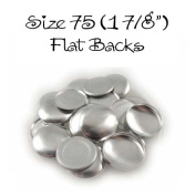 Cover Buttons - 4.8cm (SIZE 75) - FLAT BACKS - QTY 25