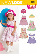 New Look Sewing Pattern 6879 Toddler Dresses, Size A
