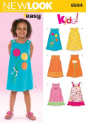 New Look Sewing Pattern 6504 Child Dresses, Size A