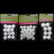 50 Foam Polystyrene Art Craft Styro White Balls Project Styrofoam 1.9cm 2.5cm 3.8cm