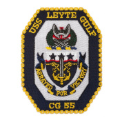 Scalloped Edge USS Patches - USS Leyte Gulf W01S49C