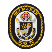 USS Rope Border Patches - USS Mahan W01S42E