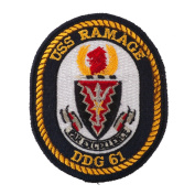 USS Rope Border Patches - USS Ramage W01S42E
