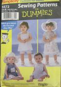 Simplicity 5572 Babies Dress Pinafore, Panties Patterns - Size A
