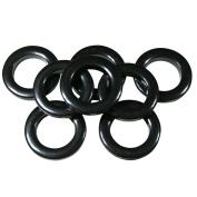 #10 Plastic Grommet, 3.5cm , 8 Sets, BLACK