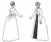 1870's-1880's Ladies Coat Pattern