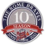 2012 Rome Braves 10th Anniversary Season Patch