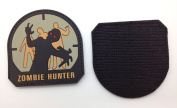 Zombie Hunter Matrix PVC Patch - High Quality PVC Rubber Tan and Black