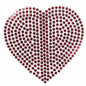 Rhinestone Transfer Hot Fix Motif Fashion Design Jewellery Cushion Red Heart 3 Sheets 3.4*8.4cm