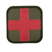 Condor 50mm Tactical hook and loop Medic Patch - OD Green