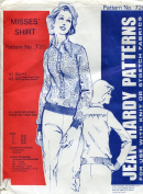 Jean Hardy Pattern 720 ~ Misses' Tab Front Shirt ~ Bust Sizes 30-44