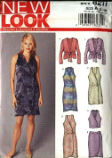 New Look Sewing Pattern 6211 Misses Size 8-18 Sleeveless Dress Top Long Sleeve Jacket Straight Skirt