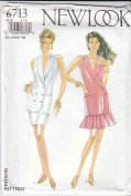 New Look Sewing Patterns 6713 Misses Sizes 8-18 Double Breasted Jacket Straight Pleated Skirt
