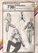 Stretch & Sew 738 Ladies Pants Collection, Straight Leg and Knickers Sewing Pattern (Hip) Sizes 30-32-34-36-38-40-42-44-46