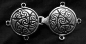 Celtic Spirals Tunic, Cloak or Cape Clasp