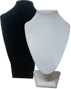 24cm Bust Necklace Display, White Leatherette