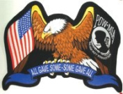 """All Gave Some, Some Gave All"" Eagle POW-MIA Back Patch"