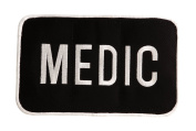 Uncle Mike's Law Enforcement Medic ID Large Patch, Black/White