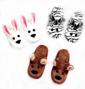 Ellie Mae Designs Pattern K130. Adult Sized Cosy Animal Slippers. Szs XS,S,M,L,XL. Foot Lengths