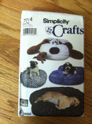 Simplicity Sewing Pattern 7014 - Use to Make - Dog Beds - Couch, Dog Head