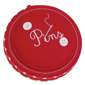 Button It - Red Polka Dot Pin Cushion