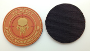 No Mercy Kinetic Working Group PVC IFF hook and loop Morale Patch Orange