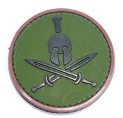 Spartan Helmet hook and loop Patch - Green