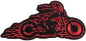 Flaming Bobber Motorcycle Biker Vest Patch Old School