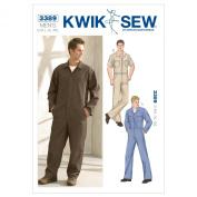 Kwik Sew K3389 Coveralls Sewing Pattern, Size S-M-L-XL-XXL