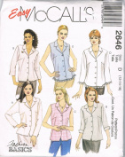 Easy McCalls Fashion Blouses 2646