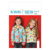 KWIK-SEW PATTERNS K4012 Girls' Lined Jackets Sewing Template, All Sizes