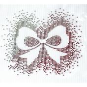 Rhinestone Transfer Hot Fix T-shirt Clothing Crafts Cushion Ribbon Pink Design 3 Sheets 6.1* 13cm