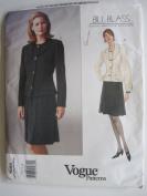 Vogue Pattern 1988 Bill Blass Misses'/Misses' Petite Jacket & Skirt Sizes 12-14-16