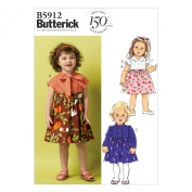 Butterick Patterns B5912 Toddlers' Dress Sewing Template, Size CCB