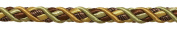 5 Yard Value Pack of Large BROWN GOLD Baroque Collection 1.1cm Cord Without Lip Style# 716BNL Colour