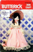 Butterick 3606 Sewing Pattern Crafts Sof-Porcelain Doll